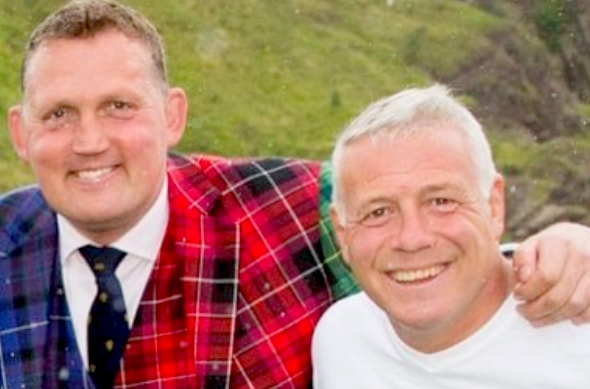 Doddie Weir and Scott Hastings